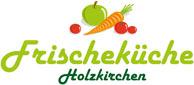 Logo Frischekueche mit Apfel, Karotte und Tomate